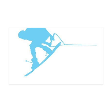 Blue Wakeboard Back Spin 38.5 x 24.5 Wall Peel
