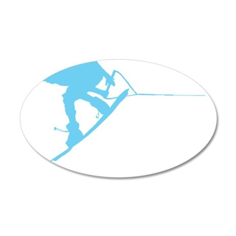 Blue Wakeboard Back Spin 22x14 Oval Wall Peel