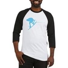 Blue Wakeboard Back Spin Baseball Jersey