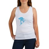 Blue Wakeboard Back Spin Women's Tank Top