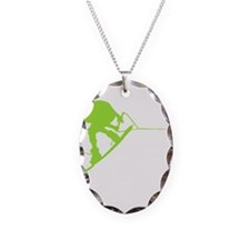 Green Wakeboard Back Spin Necklace
