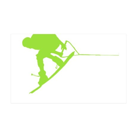 Green Wakeboard Back Spin 38.5 x 24.5 Wall Peel