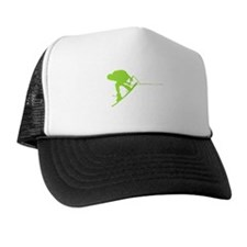 Green Wakeboard Back Spin Trucker Hat