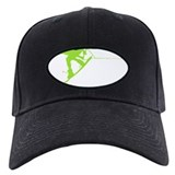 Green Wakeboard Back Spin Baseball Cap