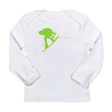 Green Wakeboard Back Spin Long Sleeve Infant T-Shi