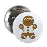"Gingerbread Man 2.25"" Button"