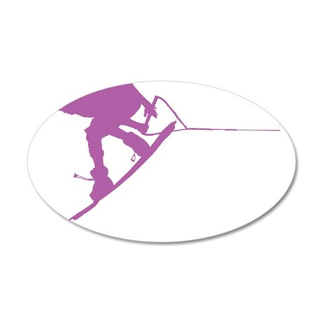 Pruple Wakeboard Back Spin 38.5 x 24.5 Oval Wall P