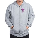Pruple Wakeboard Back Spin Zip Hoodie