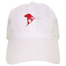 Red Wakeboard Back Spin Baseball Cap