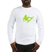 Green Wakeboard 360 Handle Pa Long Sleeve T-Shirt