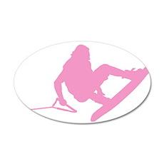 Pink Wakeboard 360 Handle Pas 22x14 Oval Wall Peel