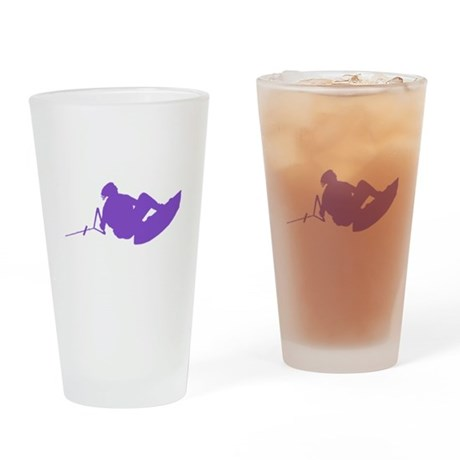 Purple Indy Tantrum Drinking Glass