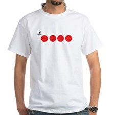 Big Red Balls Jump White T-Shirt