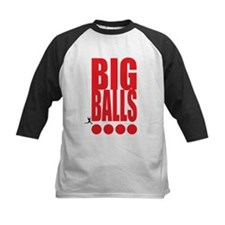 Big Red Big Balls Kids Baseball Jersey