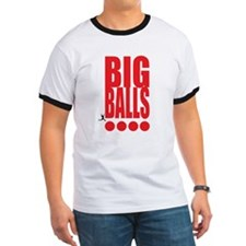 Big Red Big Balls Ringer T