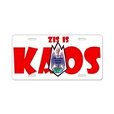 Zis is Kaos! Aluminum License Plate