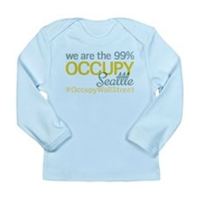 Occupy Seattle Long Sleeve Infant T-Shirt