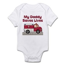 My Daddy Saves Lives Infant Creeper