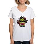 Sugar Skull Women's V-Neck T-Shirt