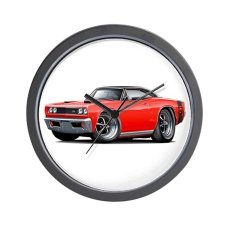 1969 Super Bee Red-Black Car Wall Clock
