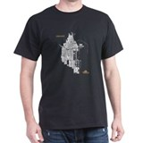 Chicago Men's T-Shirt White on Black