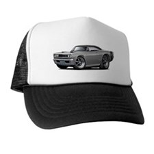 1969 Super Bee Grey-Black Car Trucker Hat