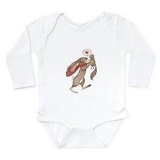 some bunny loves me Long Sleeve Infant Bodysuit
