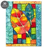 Autumn Quilt Watercolor Puzzle