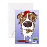 Aussie Santa's Cookies Greeting Cards (Pk of 20)