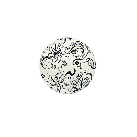 Decorative Tribal Design Mini Button (100 pack)