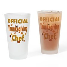 Thanksgiving Chef Drinking Glass