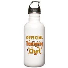 Thanksgiving Chef Water Bottle