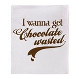 Chocolate Wasted Throw Blanket