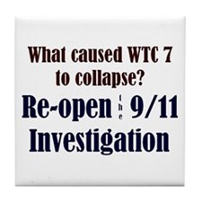 Re-open 9/11 Investigation Tile Coaster