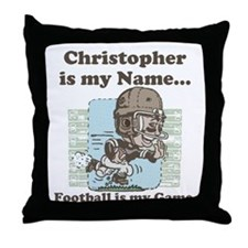 Personalizable Football Star Throw Pillow