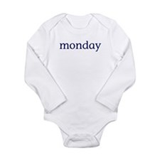 Monday Long Sleeve Infant Bodysuit