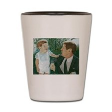 JFK and Son Shot Glass