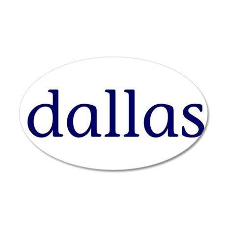 Dallas 38.5 x 24.5 Oval Wall Peel