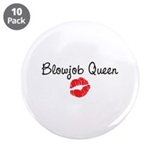 "Blowjob Queen 3.5"" Button (10 pack)"