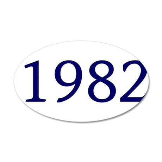 1982 38.5 x 24.5 Oval Wall Peel
