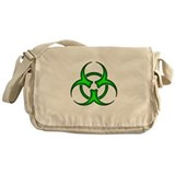 Neon Green Biohazard Symbol Messenger Bag