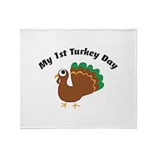 My 1st Turkey Day Throw Blanket