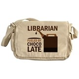 Cute Library volunteer Messenger Bag