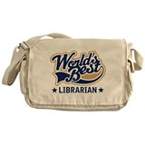 Worlds Best Librarian Messenger Bag