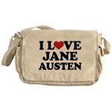 I Love Jane Austen Messenger Bag