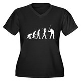 Evolved To Golf Women's Plus Size V-Neck Dark T-Sh
