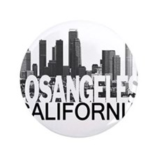 "Los Angeles Skyline 3.5"" Button (100 pack)"
