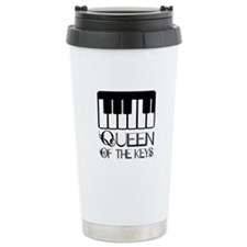 Queen Of Piano Keys Ceramic Travel Mug