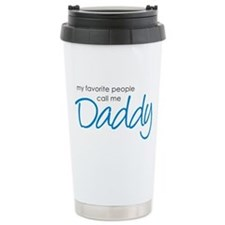 Favorite People Call Me Daddy Ceramic Travel Mug