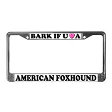 Bark Love American Foxhound License Plate Frame